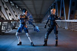 Kitana vs Cassie Cage - Mortal Kombat X by Narga-Lifestream
