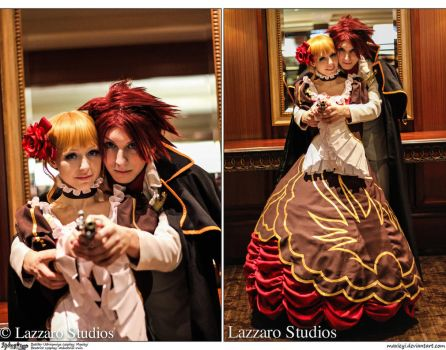 Umineko Cosplay: Pull the Final Trigger Together by Maxieyi