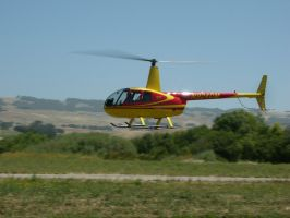 Robinson R44 hover demonstration by RoadTripDog