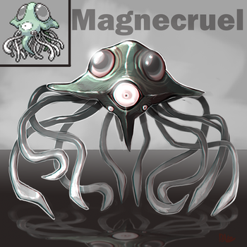 Pokemon Fusion: Magnecruel by Serpentwined