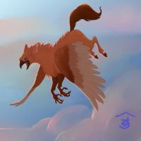 Hippogryph Aloft by Bailiwick