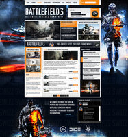 Battlefield 3 Web Design by Swizz1