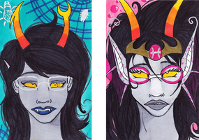 Vriska and Feferi Notecard Art by DarkPathPride
