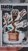 Baby Groot sketch card by RussellJackson