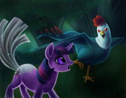 Twilight and the Cockatrice by LaurenMagpie