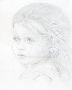 young girl by PamBateman