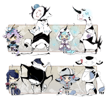 [CLOSED] ADOPT Auction 84 - Shadowmonsters by Piffi-adoptables