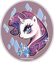 My Little Pony: Rarity by Zelbunnii