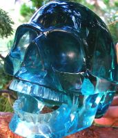 Blue Obsidian Skull 001d by SKULLKRAFT