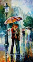 RAINY KISS by Leonidafremov