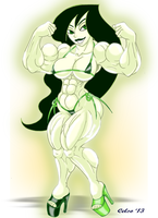 Commisssion : Muscle Shego by Celso33