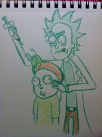 Complementary Colors Rick and Morty by Midori-Bun-Bun