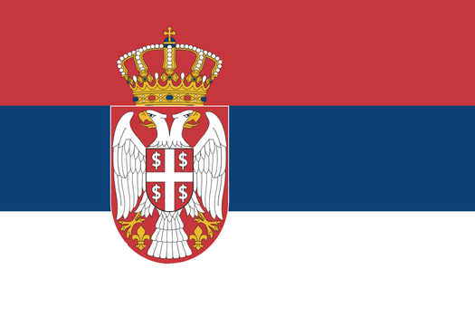 Flag of the New, Democratic, Republic of Serbia. by TheWeirdSerb
