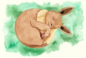 Eevee Watercolor by cutekick