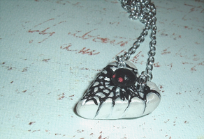 Spider Webs Pendant by SweetButEvil