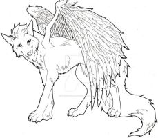 Wolf with Wings by iluv2rock99