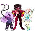 We are the crystal gems! by garnma