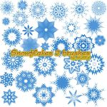 Snowflakes 2 brushes by MARY1976