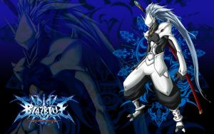 HakuMen BlazBlue Wallpaper by sonsofthestorm