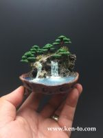 Mini wire bonsai waterfall forest by Ken To by KenToArt