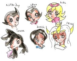 Astro Boy Head characters by Kell0x