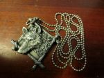 Wolf Magnet -Turned Into- Wolf Pendant by piperpiper7