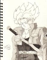 Super Saiyan Future Trunks by rajesrie