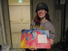 Another picture of Laura Red Gierach Scott, dragon by Poorartman