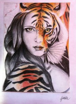 Be a woman and a tiger at the same time by jirehmae17