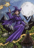 Witchcraft Sketch Card - Tony Perna 1 by Pernastudios