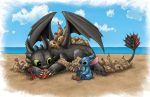 Toothless and Stitch-Commission by BritAndBran