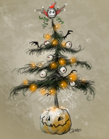 Halloween Christmas Tree. by sketchpad232