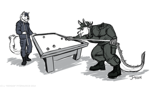 COMMISSION: Billiards by Rehgan