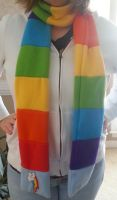 Rainbow Dash Scarf by MintyStitch