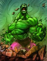 Hulk Rage By Stevensanchez Colores By @wlc2013 by Culterano7