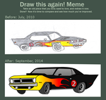 Before and After: Hemi Cuda by Silnev