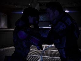 mass effect 3 - shepard is upset about Thessia by lealea25