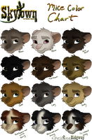 Ski's Skytown Mice Color Chart by Ski-Machine