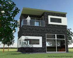 Simple Modern House Design by knoaman