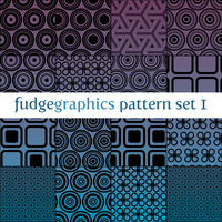 Pattern Set 1 by fudgegraphics