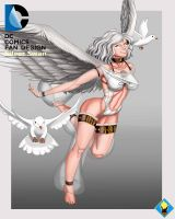 Valerie Beaudry Silver Swan fan design by supersaiyan2scooby
