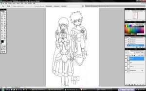 Raaus and Lisse - WIP1 by BloodUzumaki