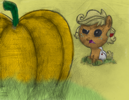 Filly Applejack by AncientOwl
