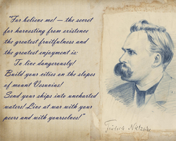 Nietzsche Wallpaper by GenericMechPilot