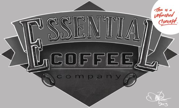 Essential Coffee Company by DavidRobertsArt