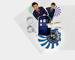10th Doctor and his TARDIS by FirstTimeLady