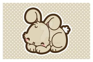 Sleepy Bunny Postcard by MasumiChi