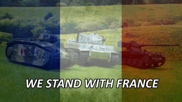 We stand with France by Rodesu