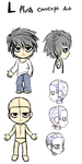 Death Note L: Plush Concept art by Skeleion