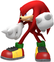 Knuckles the Echidna Battle Render by JaysonJean